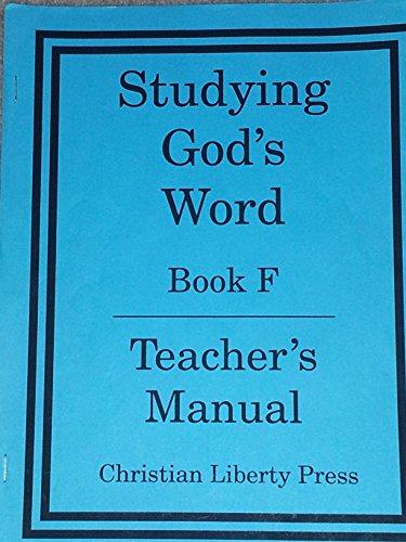 9781930092655: Studying Gods Word F Teachers Manual