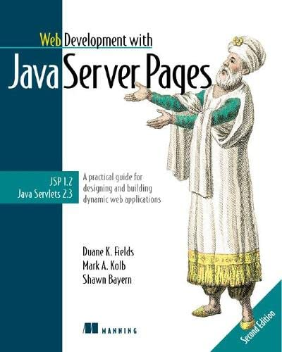 9781930110120: Web Development with JavaServer Pages