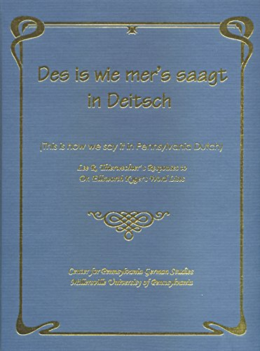 9781930353619: Des Is Wie Mer's Saagt in Deitsch