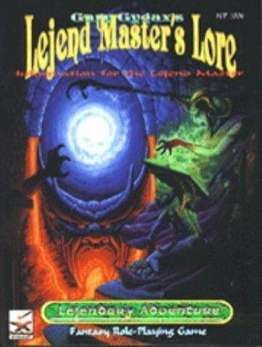 Lejend Master's Lore (Lejendary Adventure): Gygax, Gary