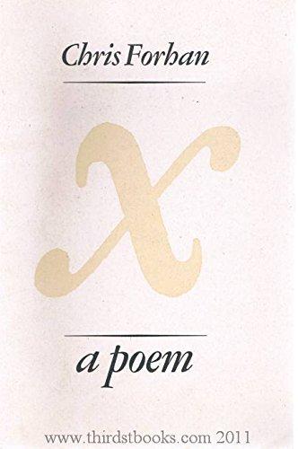 9781930446007: X: A poem