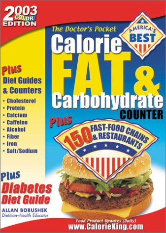 9781930448063: Doctor's Pocket Calorie, Fat & Carbohydrate Counter, 2003