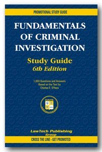 9781930466685: Fundamentals of Criminal Investigation (promotional sudy guide)