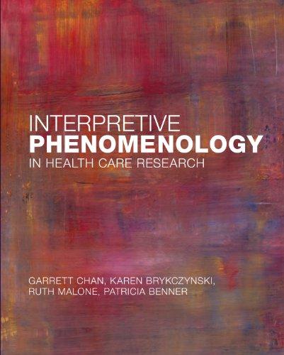 Interpretive Phenomenology in Health Care Research: Chan, Garrett K.; Brykczynski, Karen A.; Malone...
