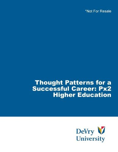 9781930622173: Thought Patterns for a Successful Career : PX2 Higher Education