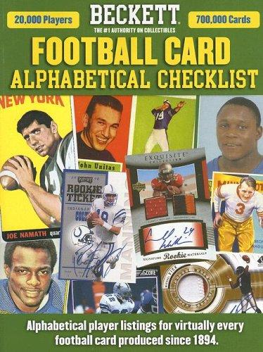 Beckett Football Alphabetical Checklist (Beckett Football Card Alphabetical Checklist): Staff of ...