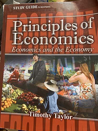 9781930789401: Study Guide to Accompany Principles of Economics: Economics and the Economy