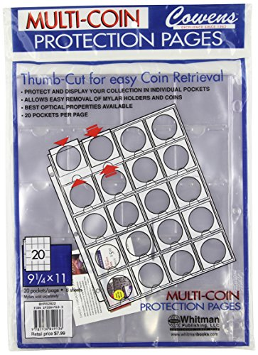 9781930849136: Whitman 8 Count Thumb Cut Coin Holder Sheets