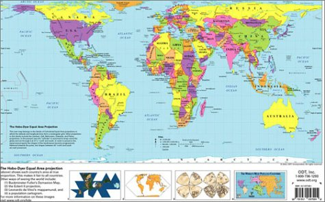 9781931057110: The Hobo-Dyer equal area projection: [world map]