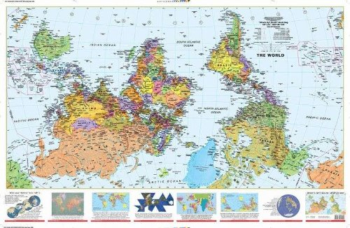 9781931057301: What´s Up? South! World Map (2x3') folded paper