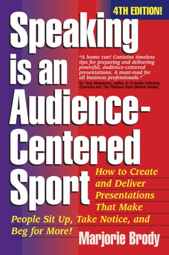 9781931148177: Speaking is an Audience-Centered Sport