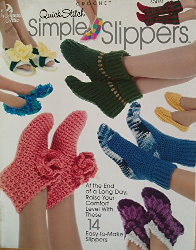 Crochet Quick Stitch Simple Slippers