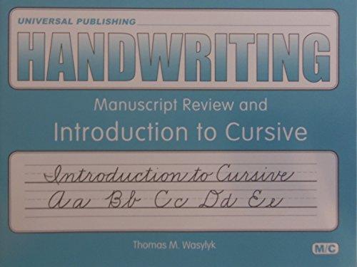 Handwriting: Introduction To Cursive Level M/c: Thomas M. Wasylyk