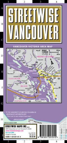 Streetwise Vancouver Map - Laminated City Street Map of Vancouver, Canada: Folding Pocket Size ...
