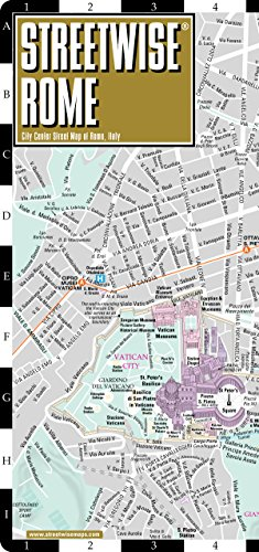 Rome Map Laminated City By Streetwise Maps AbeBooks - Maps of us and rome
