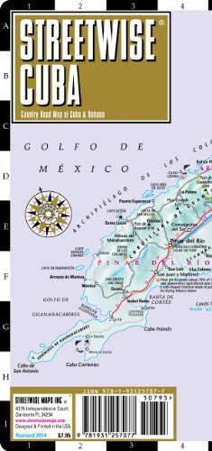 Streetwise Cuba Map - Laminated Country Road Map of Cuba: Streetwise Maps