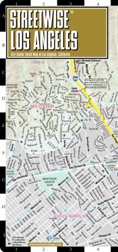 9781931257169: Streetwise Los Angeles Map - Laminated City Center Street Map of Los Angeles, California