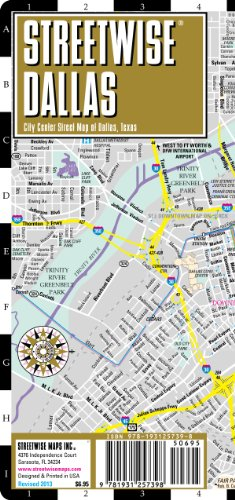 9781931257398: Streetwise Dallas Map - Laminated City Center Street Map of Dallas, Texas: Folding Pocket Size Travel Map