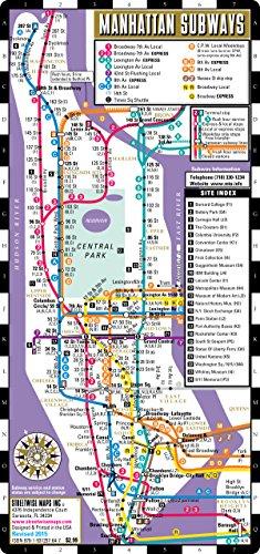 9781931257640: Streetwise Manhattan Bus Subway Map - Laminated Metro Map of Manhattan, New York - Pocket Size (Streetwise Maps)