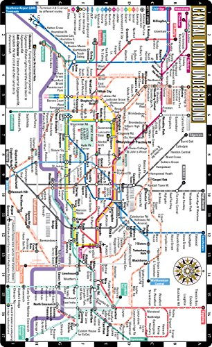 9781931257664 Streetwise London Underground Map The Tube