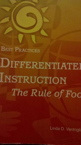 9781931277105: Best Practices Differentiated Instruction the Rule of Foot