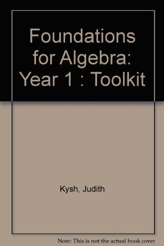 9781931287197: Foundations for Algebra: Year 1 : Toolkit