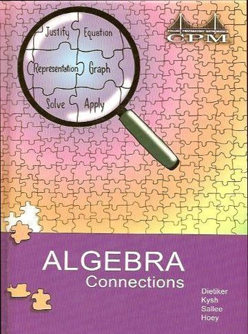 Algebra Connections, Version 3.0: Tom Sallee, Brian