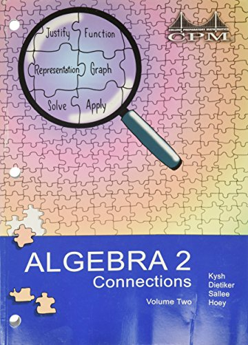 9781931287975: Algebra 2-connections vol.2 version 3.0