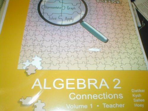 9781931287999: Algebra 2 Connections Version 3.0 Teacher Ed Vol 1 & 2