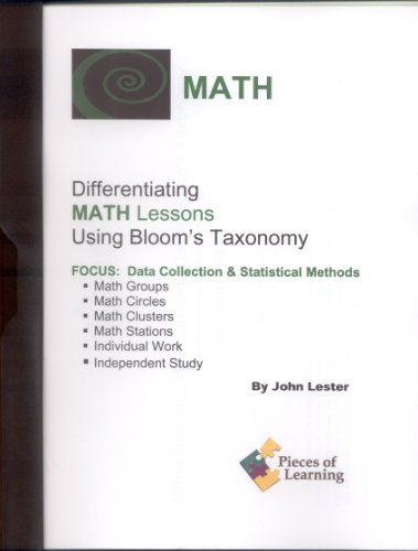 9781931334792: Differentiating Math Lessons Using Bloom's Taxonomy: Data Collection & Statistical Methods
