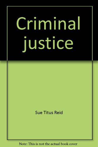 9781931442060: Criminal justice