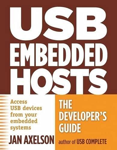 9781931448246: USB Embedded Hosts: The Developer's Guide