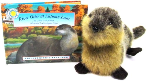 9781931465663: River Otter at Autumn Lane - a Smithsonian's Backyard Book (Mini book with stuffed toy animal) (Smithsonian Backyard)