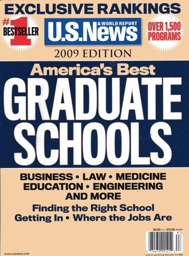 America's Best Graduate Schools: 2009 Edition: News, U.S.; Report, World