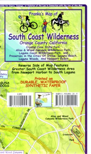 9781931494212: Franko's Trail Map of the South Coast Wilderness