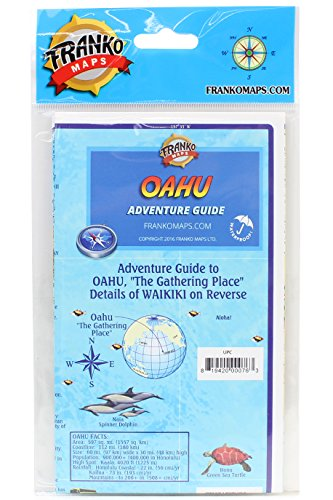 9781931494700: Franko's Guide Map of Waikiki and Oahu