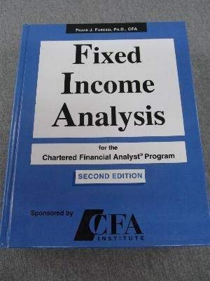 9781931609043: Fixed Income Analysis for the Chartered Financial Analyst Program