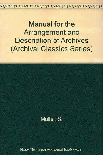 Manual for the Arrangement and Description of