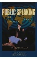 9781931719001: Public Speaking in a Multicultural Society: The Essentials
