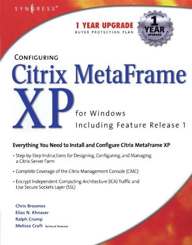 9781931836531: Configuring Citrix Metaframe XP for Windows