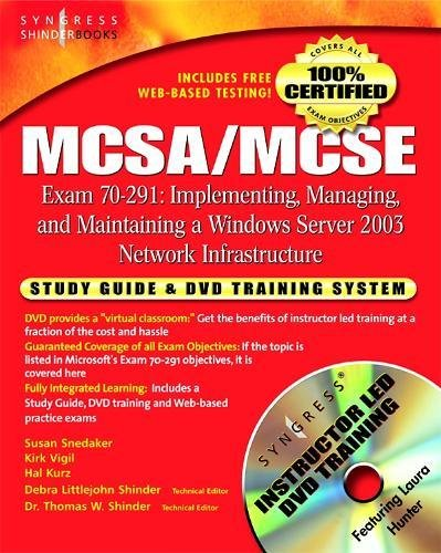 9781931836920: MCSA/MCSE Exam 70-291 Study Guide and Training System: Implementing, Managing, and Maintaining a Windows Server 2003 Network Infrastructure
