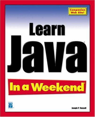 9781931841603: Learn Java In a Weekend