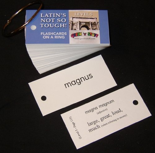 9781931842747: Latin's Not So Tough! Level 5, Flashcards on a Ring