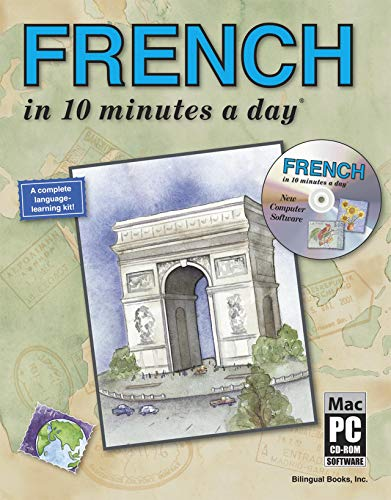 French 9781931873024 FRENCH in 10 minutes a day® Book 132-page illustrated workbook Full color throughout Organized in 25 easy steps, by essential categories 150 Sticky Labels for home and office Ready-made Flash Cards Cut-out Menu Guide Pronunciation Guide Over 300 Free Words Glossary of over 2,000 new words, definitions and pronunciation FRENCH in 10 minutes a day® CD-ROM Included with the 10 minutes a day® Book Special language learning software features interactive Sticky Labels, Flash Cards, Colors and Numbers See and hear the words as you play with them on your computer screen PC and Mac friendly Dreaming of Paris? Or perhaps it is Morocco or Tahiti that beckons you. Wherever your travels take you in the Francophone world, this book and interactive CD-ROM combination will cover all your language needs. Fun computer activities, useful study tools and an easy pronunciation guide make learning French easy and enjoyable. And with a focus on practical words and phrases, which every traveler needs, you ll learn that ordering a meal, greeting the locals and finding your way around town, all in French, is simply a breeze! Whether you re shopping along the Champs-Elysees or at the market in Timbuktu, make FRENCH in 10 minutes a day® with CD-ROM your travel companion and the enchanting Francophone world will be yours.