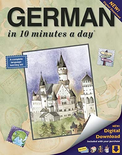 9781931873314: GERMAN in 10 minutes a day®: Language course for beginning and advanced study. Includes Workbook, Flash Cards, Sticky Labels, Menu Guide, Software, ... Grammar. Bilingual Books, Inc. (Publisher)