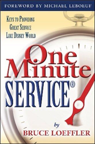 9781932021165: One Minute ServiceR: Keys to Providing Great Service Like Disney World