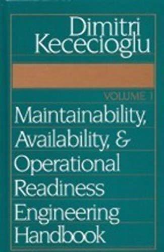 9781932078053: Maintainability, Availability, and Operational Readiness Engineering Handbook, Vol. 1
