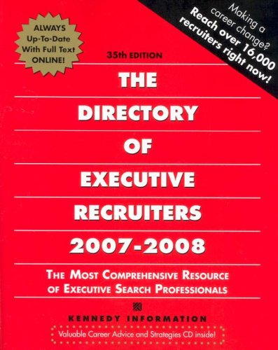 9781932079692: The Directory of Executive Recruiters 2007-2008