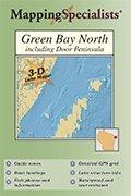 9781932081930: Green Bay North 3-D Lake Map