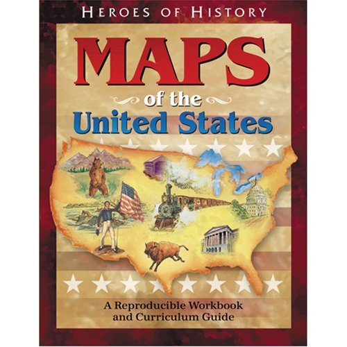 Maps of the United States Workbook (Heroes of History)